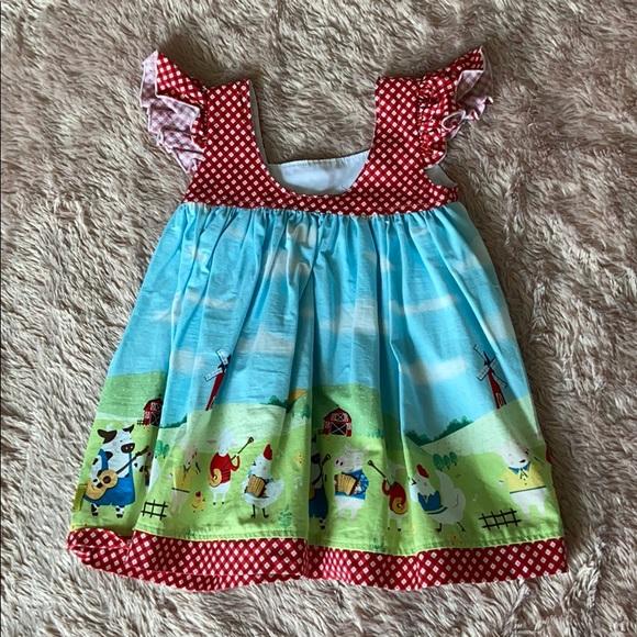 Sleeveless Farm Girl Dress